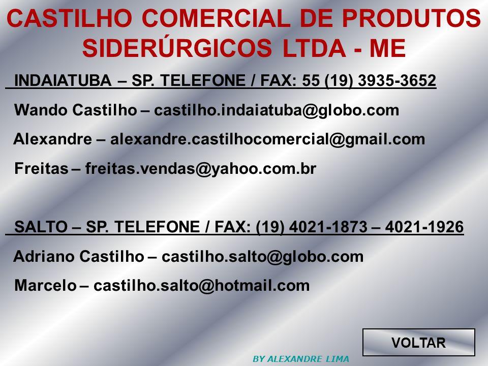 CASTILHO COMERCIAL DE PRODUTOS SIDERÚRGICOS LTDA - ME
