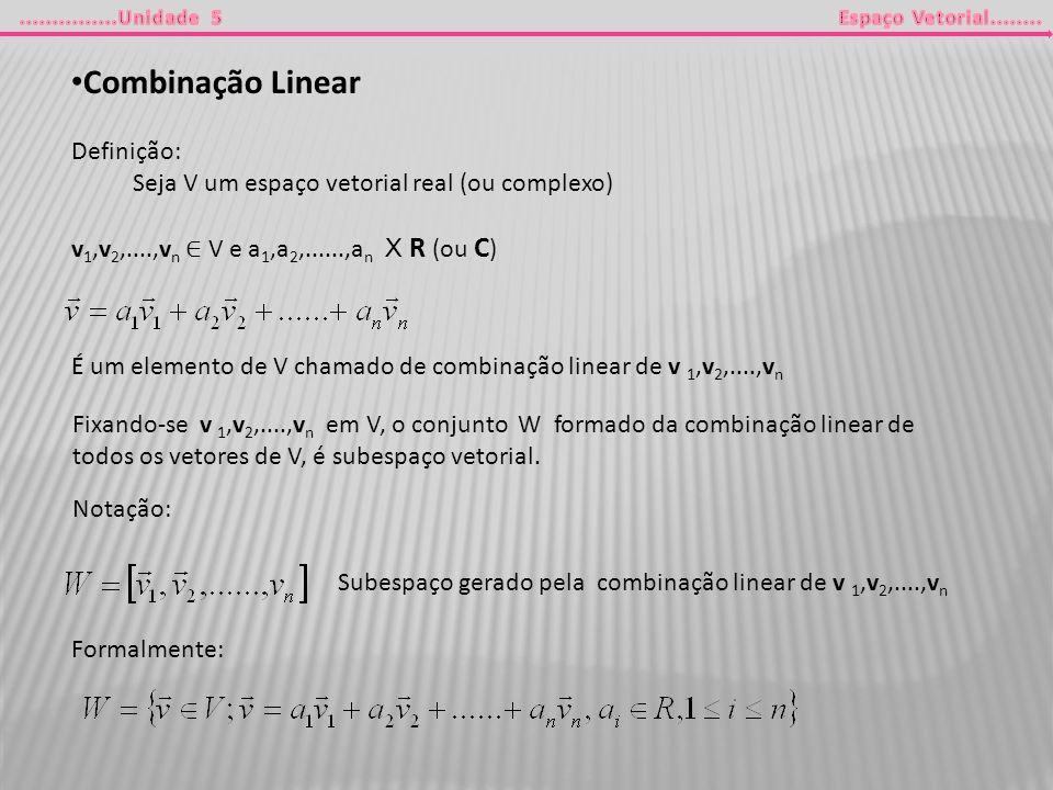 Combinação Linear Definição: