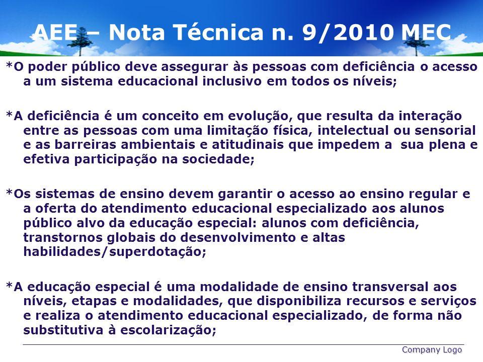 AEE – Nota Técnica n. 9/2010 MEC