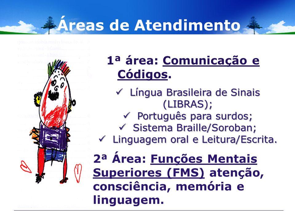 Áreas de Atendimento 1ª área: Comunicação e Códigos.