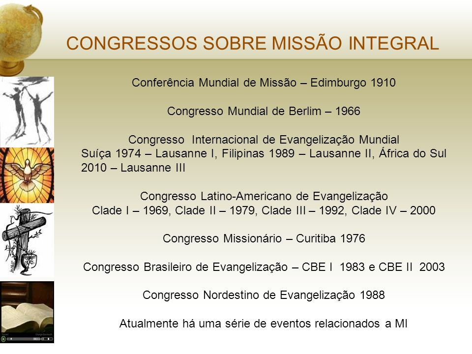 CONGRESSOS SOBRE MISSÃO INTEGRAL