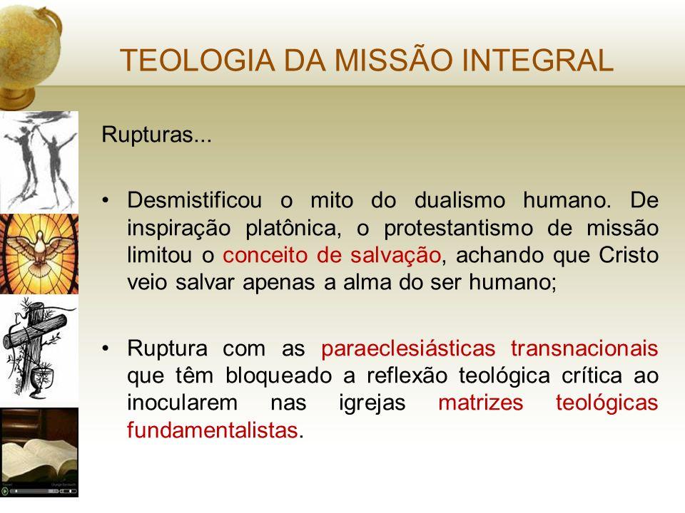 TEOLOGIA DA MISSÃO INTEGRAL