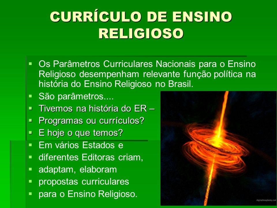 CURRÍCULO DE ENSINO RELIGIOSO