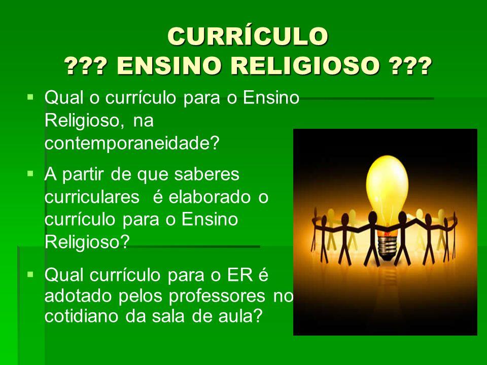CURRÍCULO ENSINO RELIGIOSO