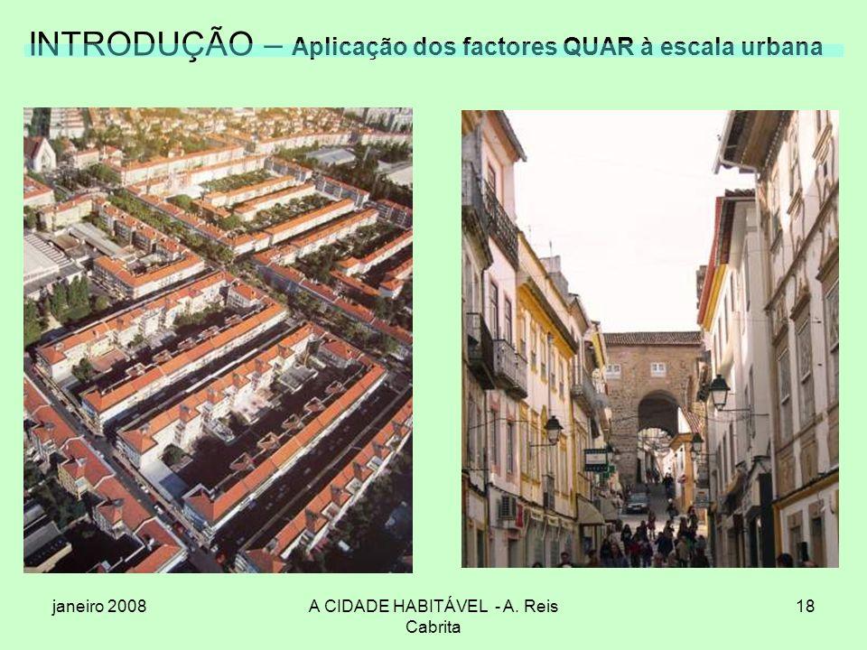 INTRODUÇÃO – Aplicação dos factores QUAR à escala urbana