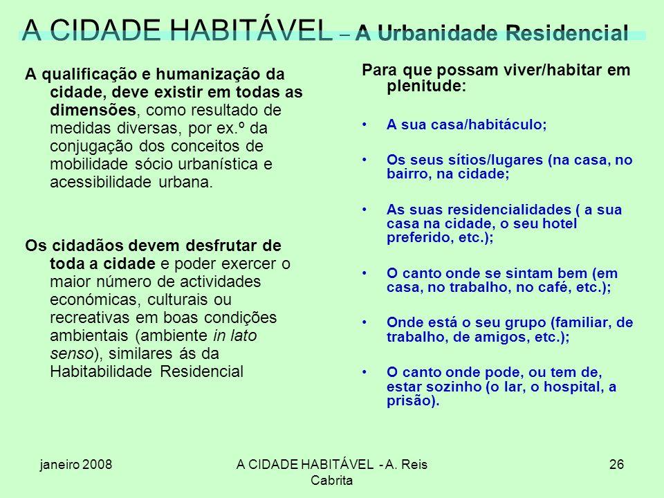 A CIDADE HABITÁVEL – A Urbanidade Residencial