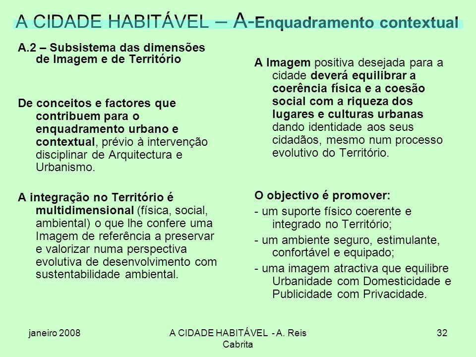 A CIDADE HABITÁVEL – A-Enquadramento contextual