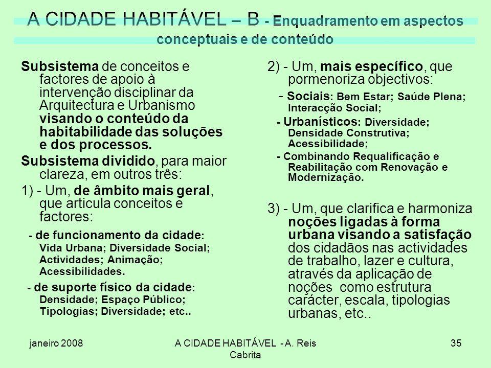 A CIDADE HABITÁVEL - A. Reis Cabrita