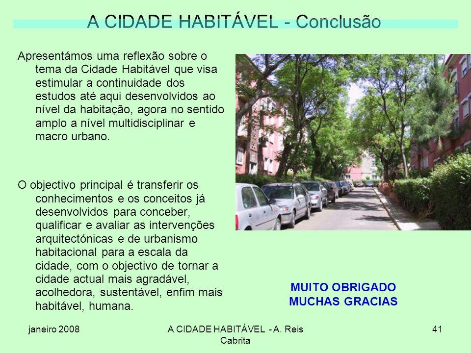 A CIDADE HABITÁVEL - Conclusão