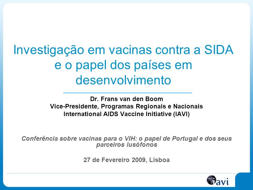 Investigação em vacinas contra a SIDA e o papel dos países em desenvolvimento