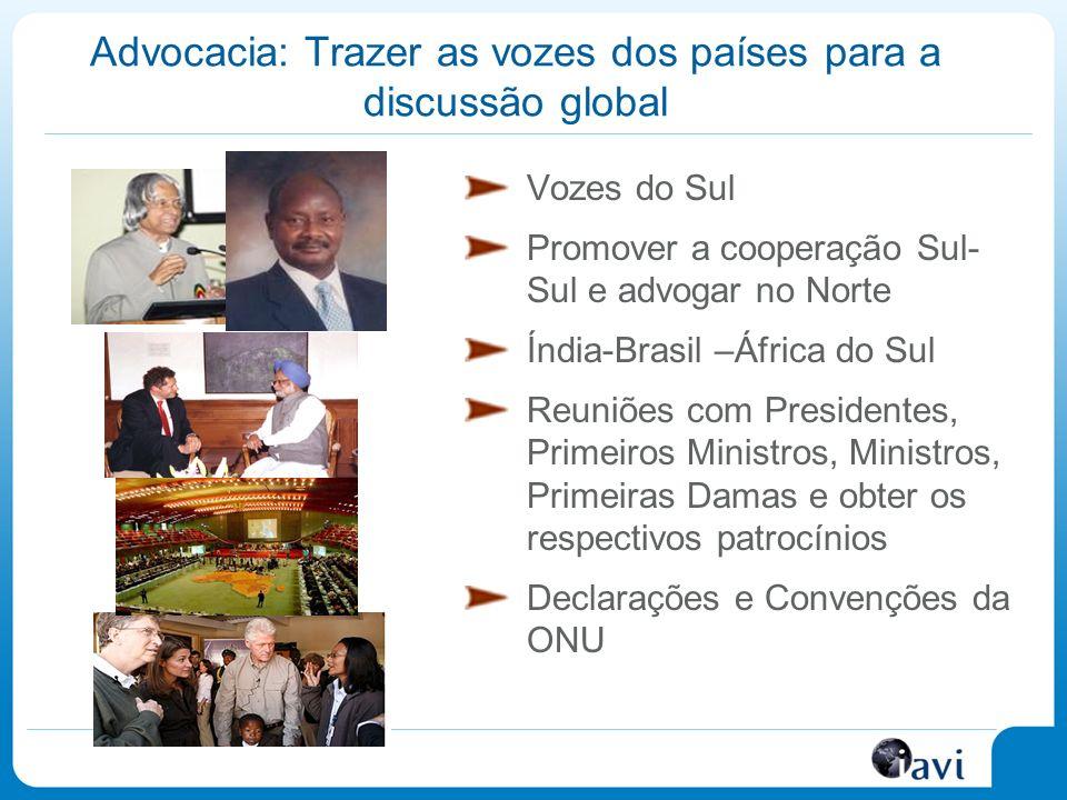 Advocacia: Trazer as vozes dos países para a discussão global