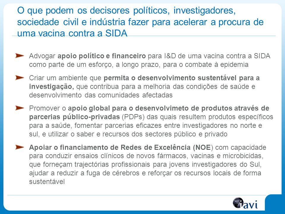 O que podem os decisores políticos, investigadores, sociedade civil e indústria fazer para acelerar a procura de uma vacina contra a SIDA