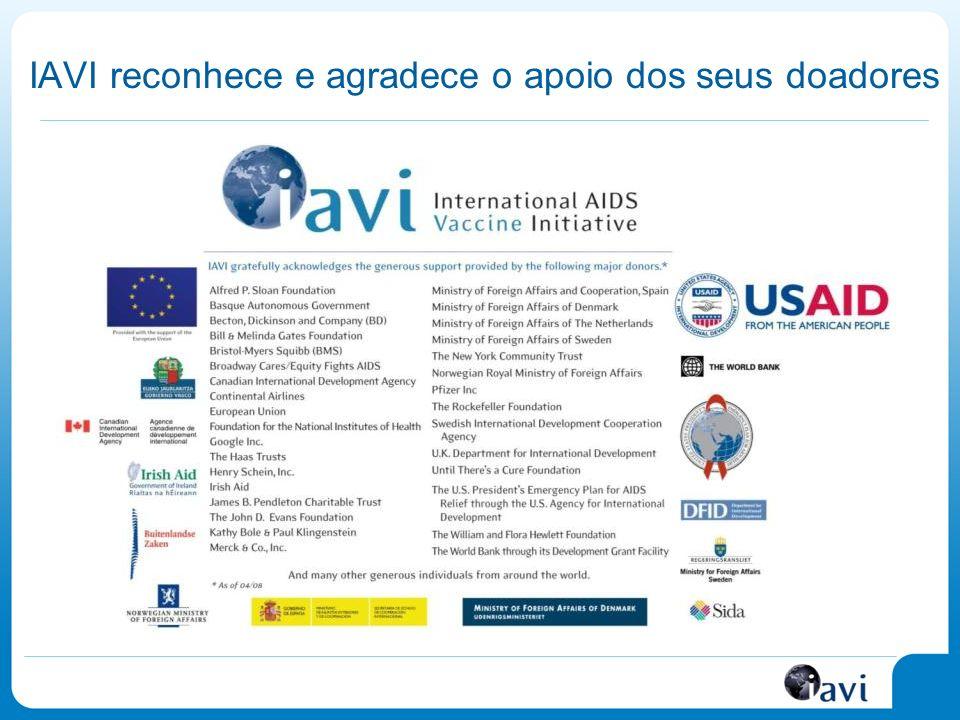 IAVI reconhece e agradece o apoio dos seus doadores