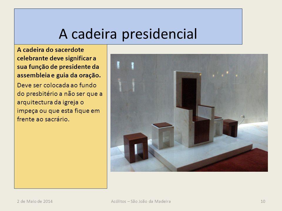 A cadeira presidencial