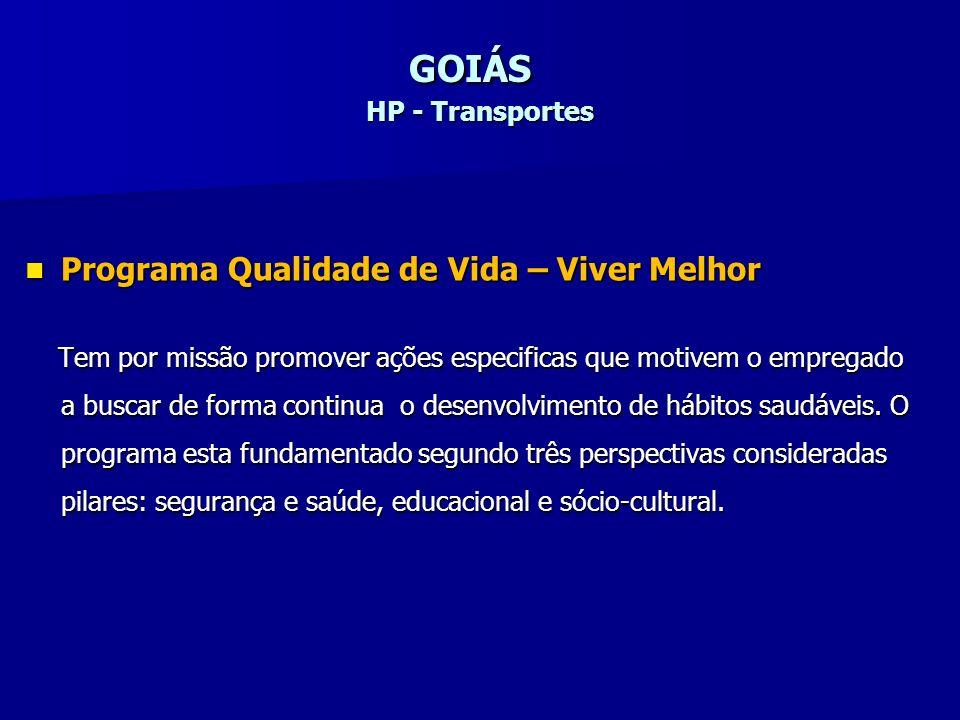 GOIÁS HP - Transportes Programa Qualidade de Vida – Viver Melhor