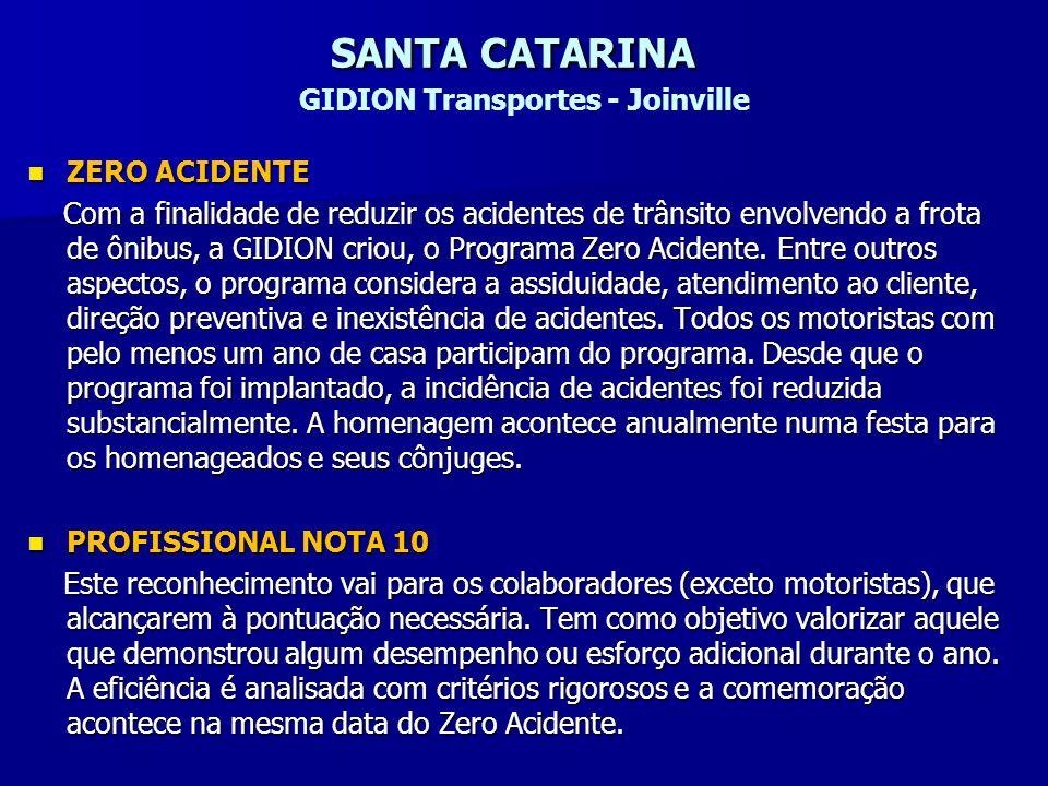 SANTA CATARINA GIDION Transportes - Joinville