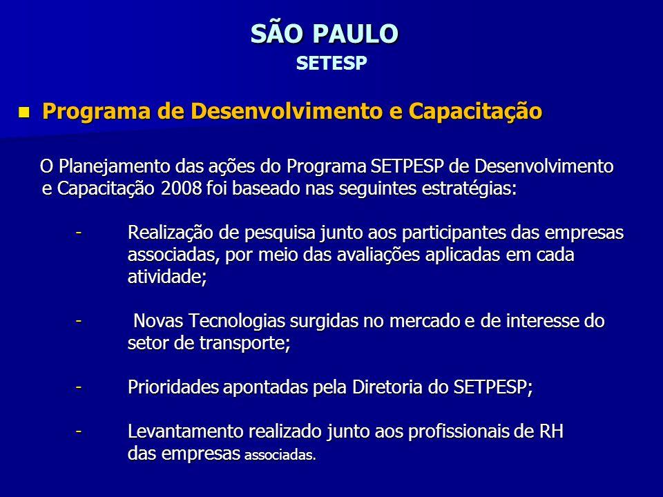 SÃO PAULO SETESP Programa de Desenvolvimento e Capacitação