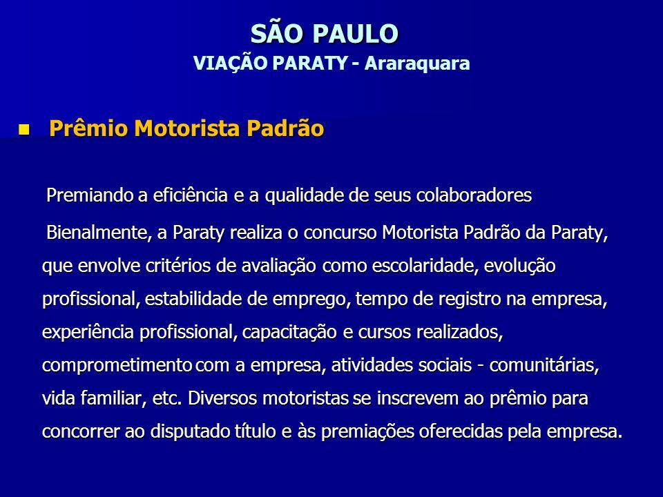 SÃO PAULO VIAÇÃO PARATY - Araraquara