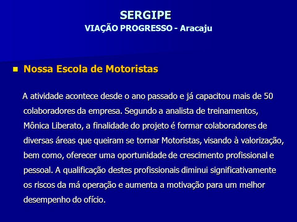 SERGIPE VIAÇÃO PROGRESSO - Aracaju