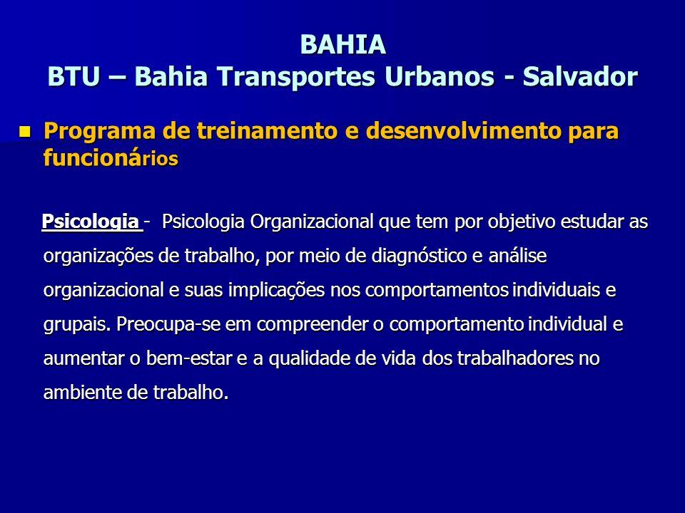 BAHIA BTU – Bahia Transportes Urbanos - Salvador