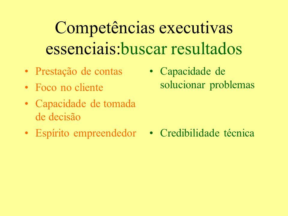 Competências executivas essenciais:buscar resultados