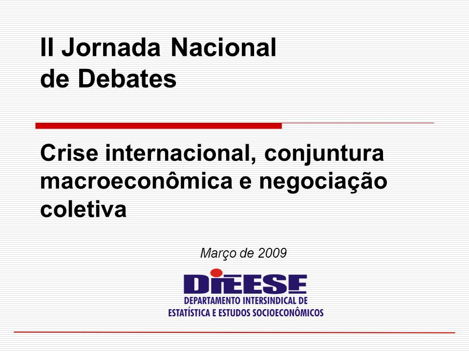 II Jornada Nacional de Debates