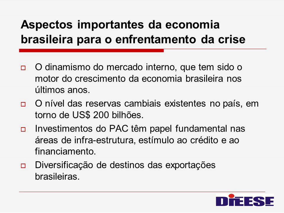Aspectos importantes da economia brasileira para o enfrentamento da crise