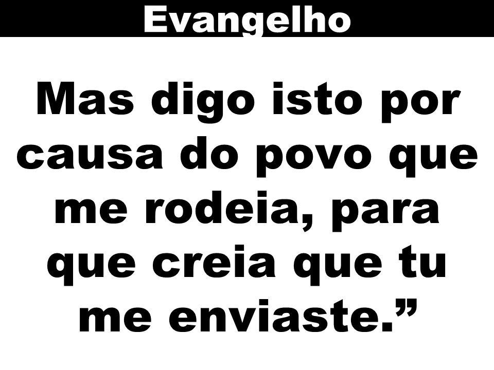 Evangelho Mas digo isto por causa do povo que me rodeia, para que creia que tu me enviaste. 109