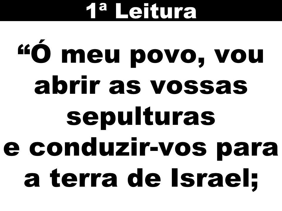 1ª Leitura Ó meu povo, vou abrir as vossas sepulturas e conduzir-vos para a terra de Israel; 17