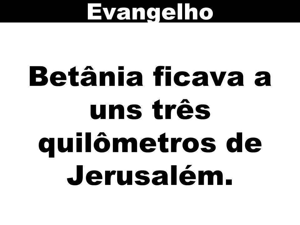 Betânia ficava a uns três quilômetros de Jerusalém.
