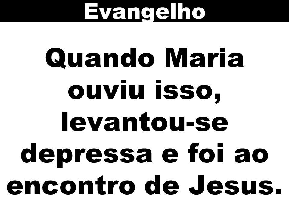 Evangelho Quando Maria ouviu isso, levantou-se depressa e foi ao encontro de Jesus. 89