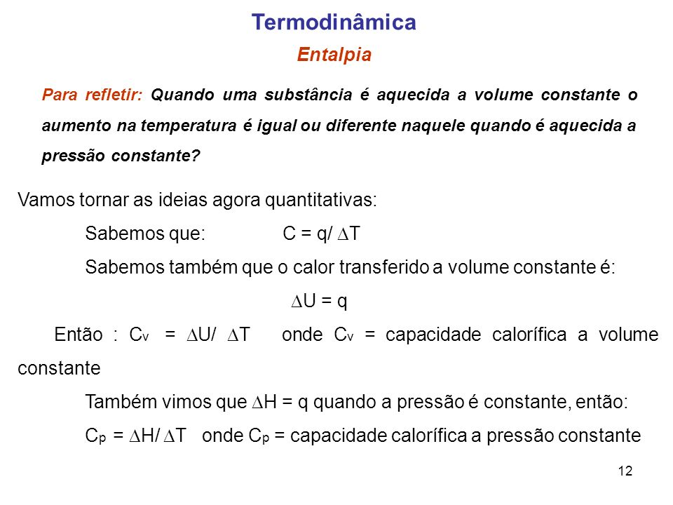 Termodinâmica Entalpia
