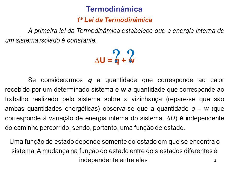 Termodinâmica 1ª Lei da Termodinâmica