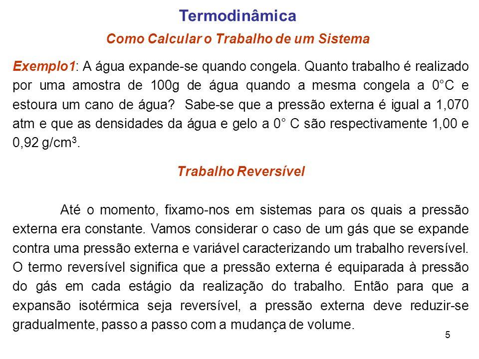 Termodinâmica Como Calcular o Trabalho de um Sistema