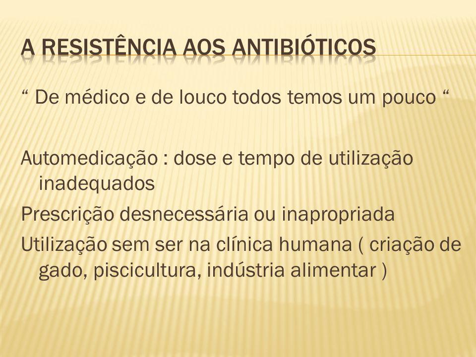 A resistência aos antibióticos