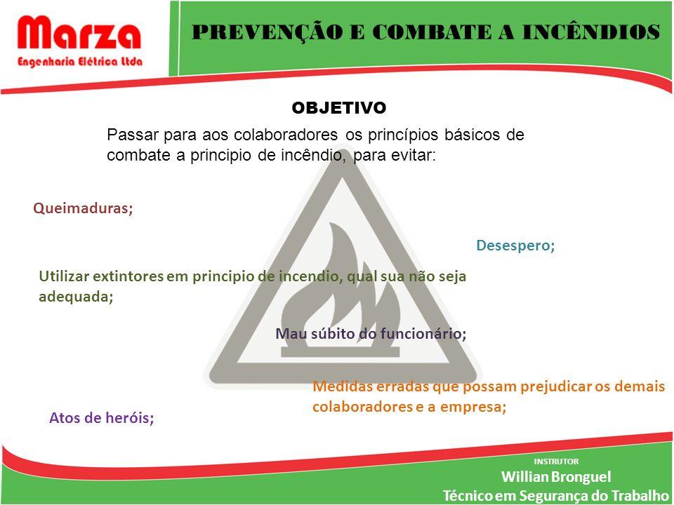 PREVENÇÃO E COMBATE A INCÊNDIOS Técnico em Segurança do Trabalho