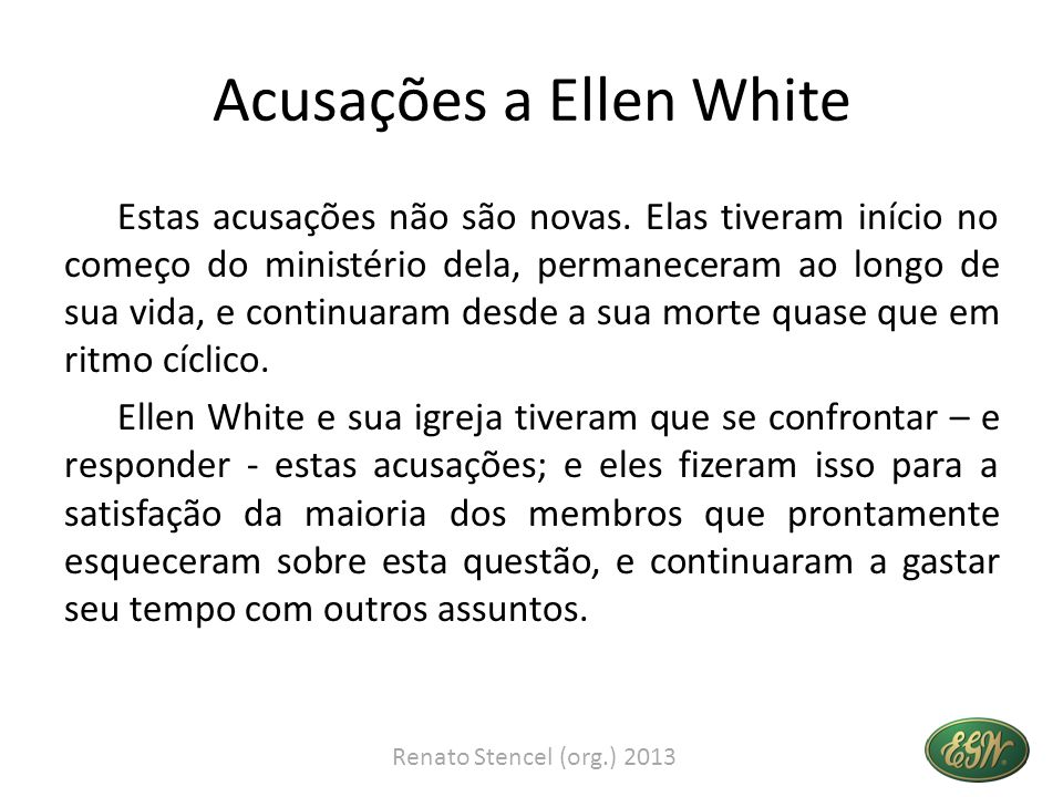 Acusações a Ellen White
