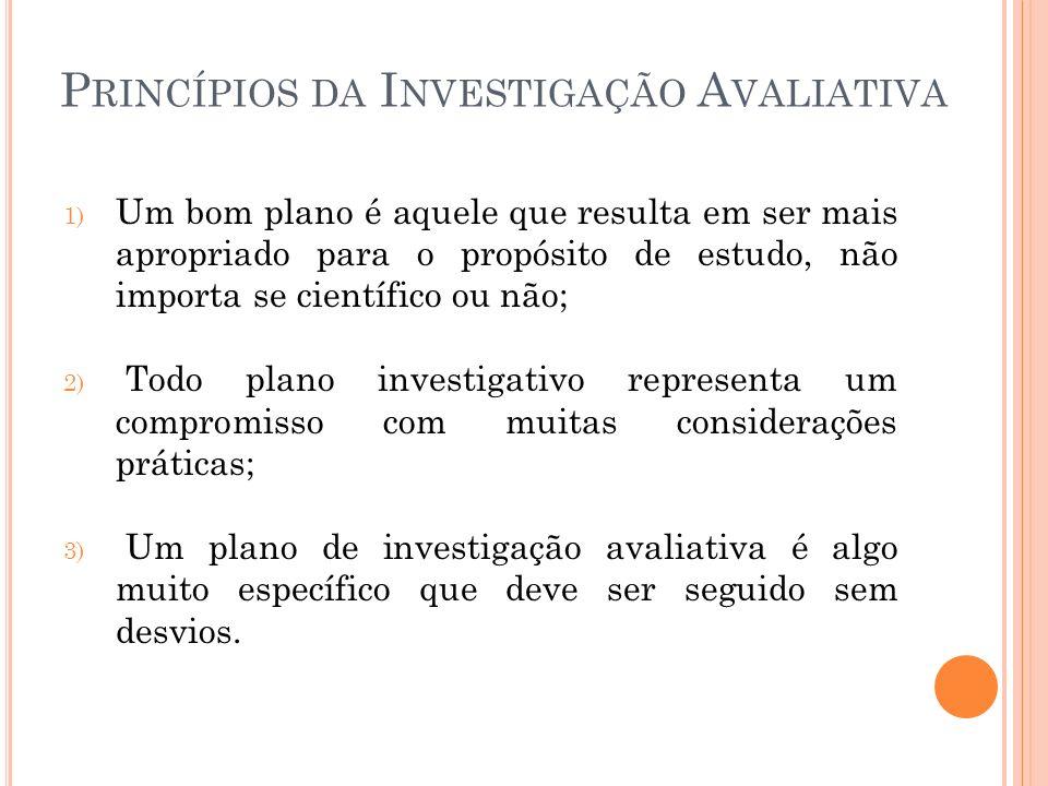 Princípios da Investigação Avaliativa