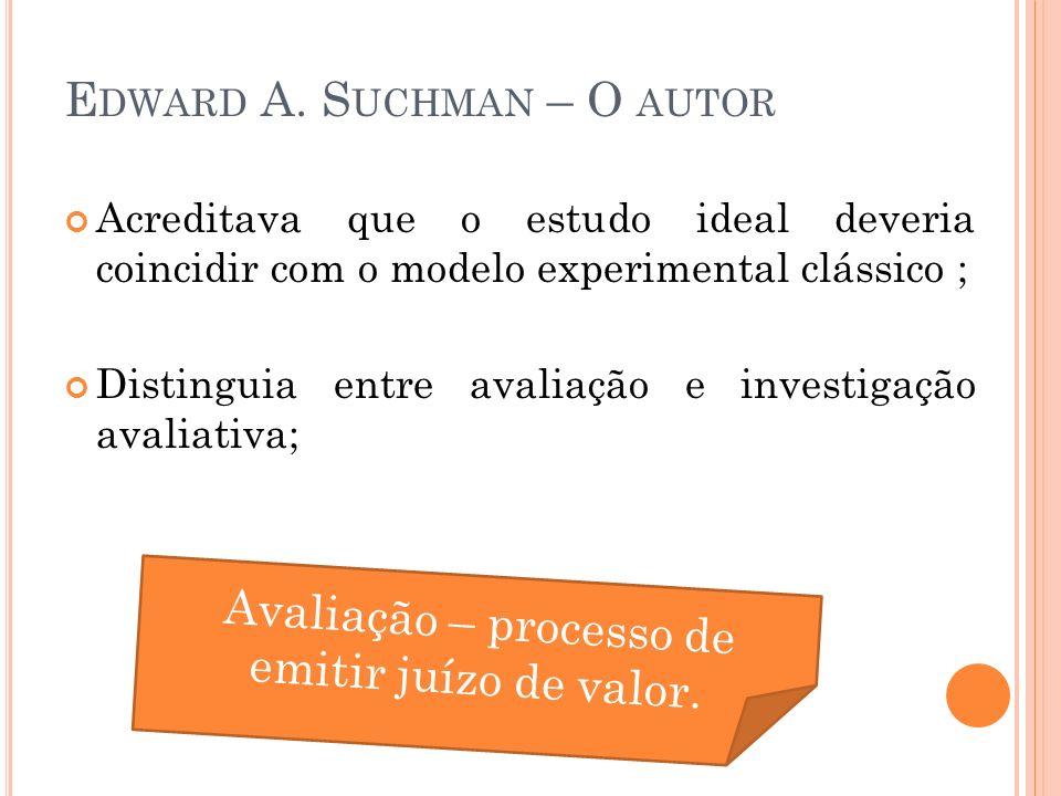 Edward A. Suchman – O autor