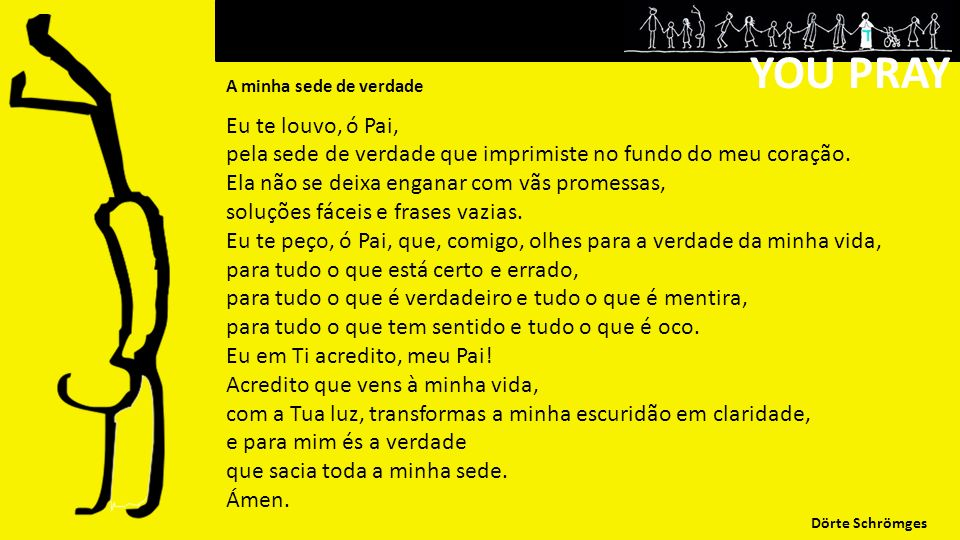YOU PRAY Eu te louvo, ó Pai,