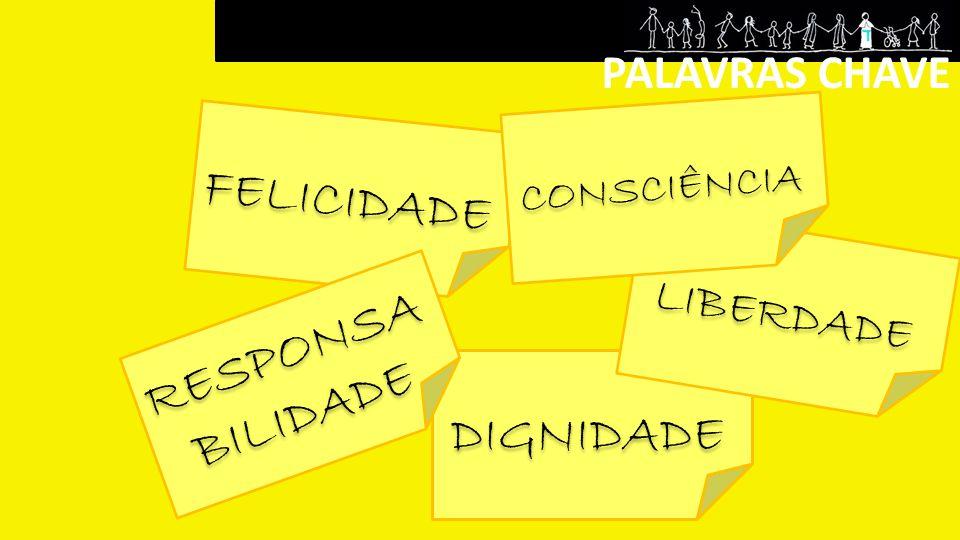 FELICIDADE RESPONSABILIDADE DIGNIDADE PALAVRAS CHAVE LIBERDADE
