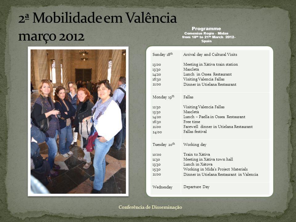 2ª Mobilidade em Valência março 2012