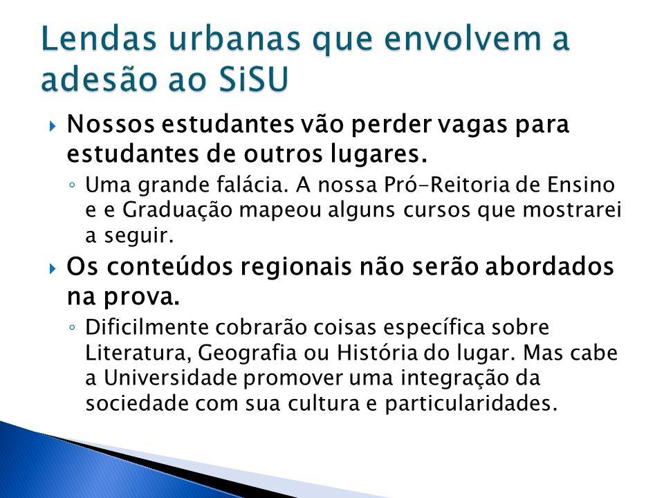 Lendas urbanas que envolvem a adesão ao SiSU