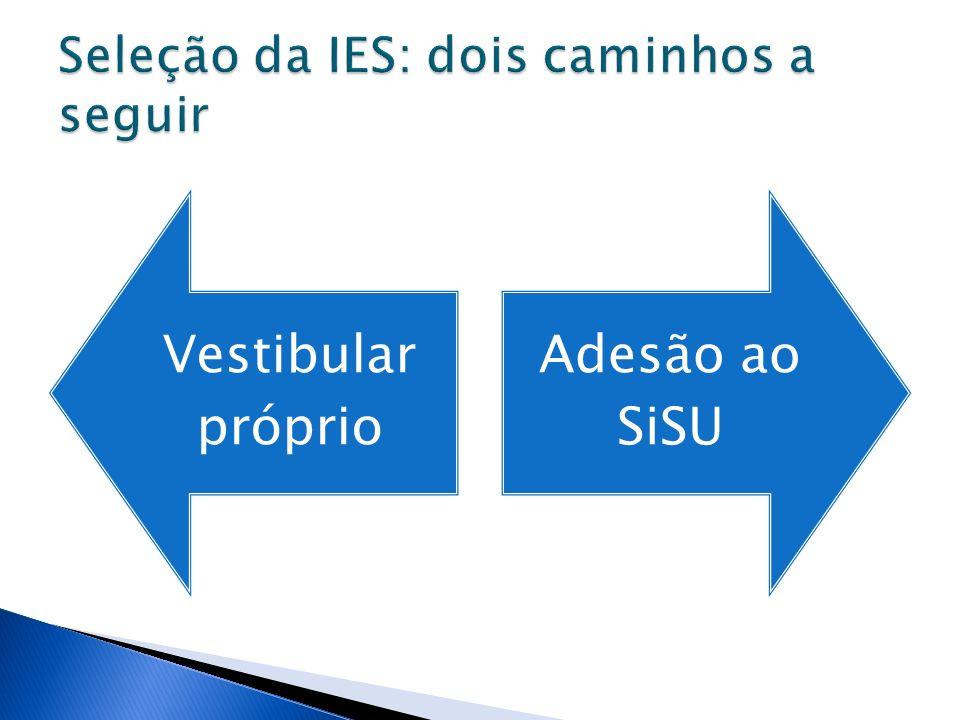 Seleção da IES: dois caminhos a seguir