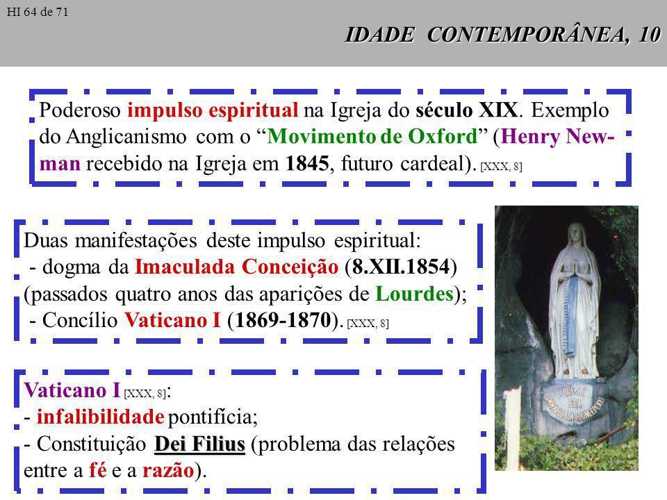 Poderoso impulso espiritual na Igreja do século XIX. Exemplo