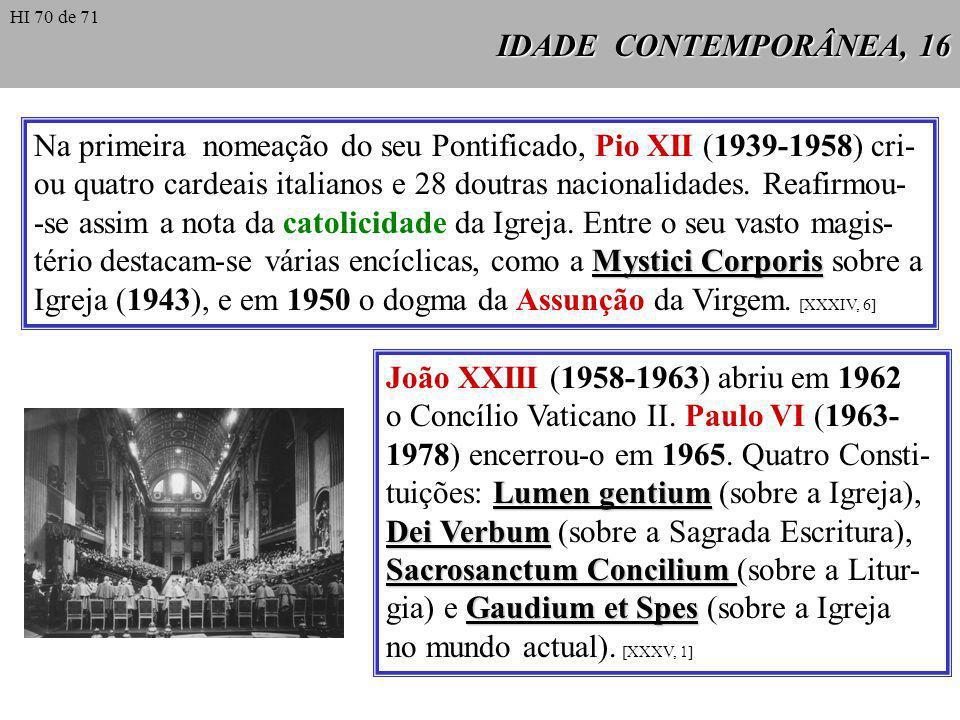 o Concílio Vaticano II. Paulo VI (1963-