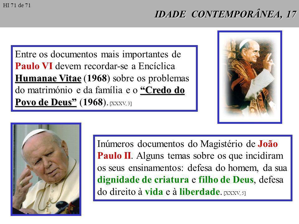 Inúmeros documentos do Magistério de João