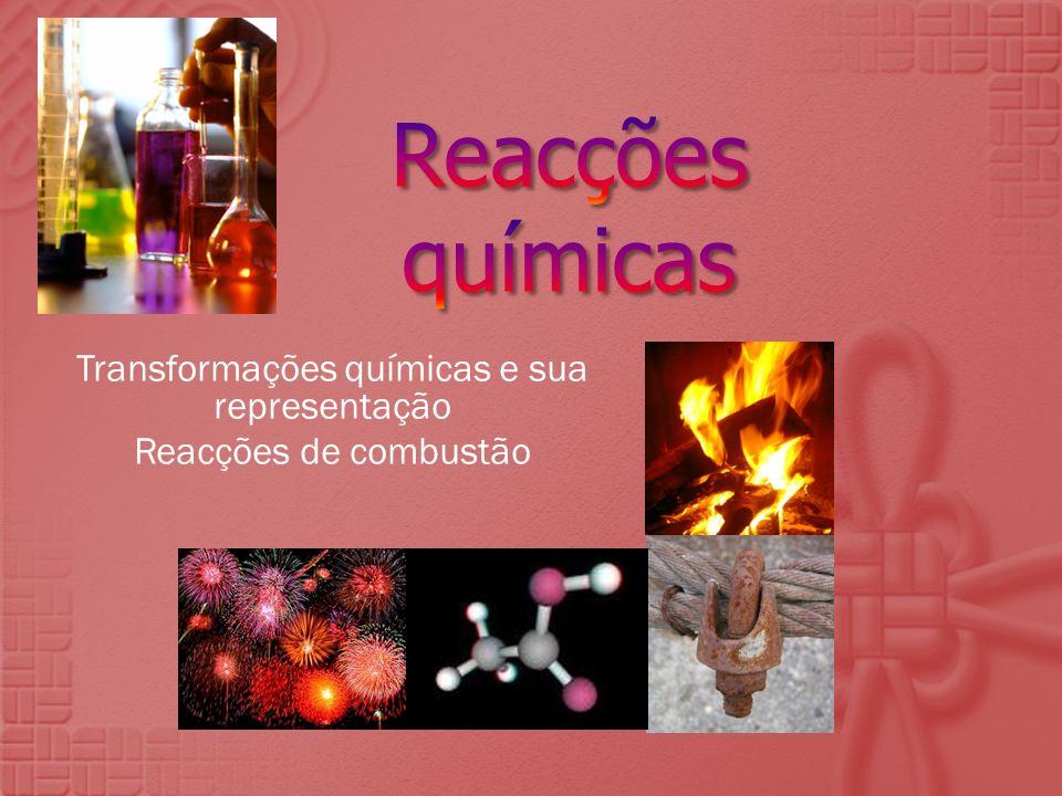 Transformações químicas e sua representação Reacções de combustão