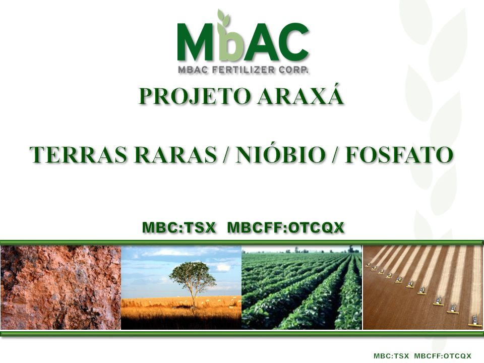 TERRAS RARAS / Nióbio / fosfato