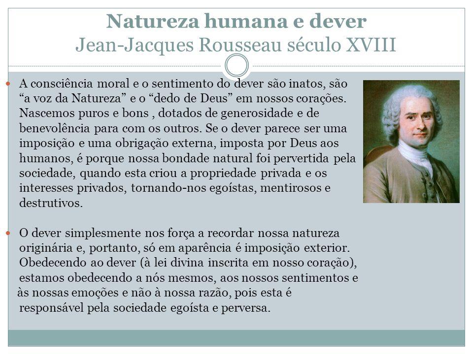 Natureza humana e dever Jean-Jacques Rousseau século XVIII